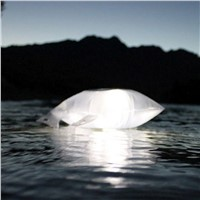 LED Camping Light Emergency Lamp IP67 Waterproof Portable Lantern Foldable PVC Bag Hiking Tent Lamp Inflatable Solar Light