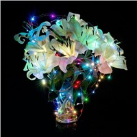 Fairy LED String Lights Battery Operated 4ft 10 Leds Mini Starry String Lights For Home Party Decoration Crafting Costume Making
