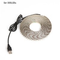 Waterproof 5V USB Cable Power LED strip light SMD3528 for TV Background Lighting Christmas desk Decor lamp tape 50CM 1/2/3/4/5M
