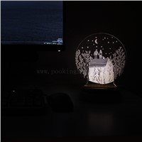 3D stereo vision lamp, negative ion air purifier, USB power supply aromatherapy lamp Mobile phone bracket night light
