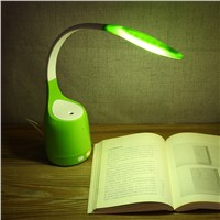 Creative 16 LEDs Fashion Table Lamp with Humidifier  Intelligent USB Charging Eye Protection Bedside Desk Lamp Reading Light