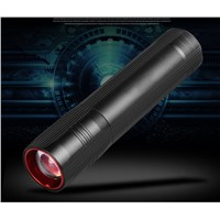 CREE XPE LED USB Flashlight Zoomable Flashlight 5000Lumnes Torch Flash Light Lamp Lighting With USB Charger + Battery
