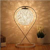 Bamboo creative ball night table lamp for bedside bedroom fashion romantic art living room decoration light gift table lamp
