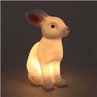 Cute Night Light Rabbit Cartoon Sleeping Light Kids Desk Lamp Home Bedroom Decoration
