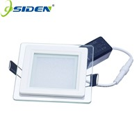 OSIDEN AC85-265V  Recessed Panel Light LED Lamps 6W 9W 12W 18W SMD5630 Celing Lamp Round SpotLights Downlight With Glass Cover