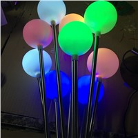 New Style Waterproof Reed Light Stainless Steel Floor Lamp Outdoor Garden Path Decorative Light LED Ball Light Lawn Light