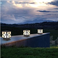 Bollard Lights Led Aluminum Post Lamp Outdoor Garden Pathway Fence Gates Villa Parks decoration Landscape Light Fixture