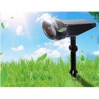 Solar 4LED Projection Light Spotlight Lamp Outdoor Lighting LED Solar Light Garden Lawn Lamp Landscape Wall Lights