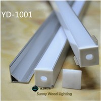 5-30pcs/lot 40inch 1m right-angle led aluminium profile for 10mm PCB board led corner channel for 5050 strip led bar light