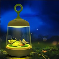 Novelty Butterfly and Rabbit Led Night Light Micro-landscape Plant Lamp with Potted Plant
