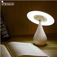 IMINOVO Novel Mushroom LED Night Light Desk Lamp Rechargeable Nightlights Reading Light Stepless Dimming Touch Sensor Desk Lamps
