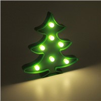 3D Christmas Tree Night Light LED Desk Night Lamp For Kids Gift Decoration New