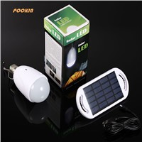 Rechargeable  E27 led solar lamp with  AC 90-260V DC 6V  Light for Indoor Outdoor Home Garden Camping