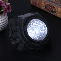 4 LED Solar Decorative Rock Stone Lights Resin Material Outdoor Garden Yard Lawn Lamp Imitation Stone Appearance