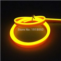 High quality Flexible EL Wire LED Strip Tube Rope Flexible Neon Light 2.3mm-skirt 1 Meter Yellow Car Inside Decoration