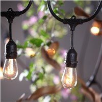 SAA High Quality 14.4M Outdoor Weatherproof Commercial Christmas Party Decor String Lights with S14 E27 Clear Bulbs