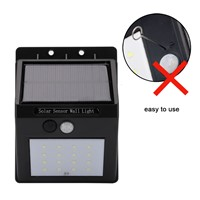 20 LED Solar Lamp Waterproof PIR Motion Sensor Solar Light Power Garden LED Solar Light Outdoor ABS Wall Lamp