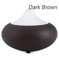 140ml Aroma Essential Oil Diffuser Ultrasonic Air Humidifier Wood Grain 7 Color Changing LED Lights for Office Home