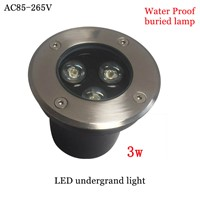 LED lamp Underground Light 3W led rgb  waterproof  Buried  Recessed garden Path Landscape Outdoor Lighting