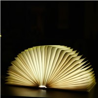 Creative LED Book Light Lamp Folding LED Night Light Novelty Decorative USB Rechargeable lamp lights Ornament Lamp For Gift