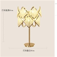 Scandinavian table lamp crystal decorative lamp gold living room table lamp Dia450mm  H600mm