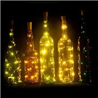 2M20LED lamp Cork Shaped Bottle Stopper Light Glass Wine Colorful LED String Lights For Bar Xmas Party Wedding Home Decoration 1