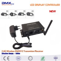 FreeShipping COLORNIE Wholesale In Stock 2PCS LCD display controller wireless dmx transmitter and 18pcs mini Receivers