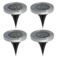 4 Pack Solar Powered Ground Light Outdoor Lights Waterproof LED Solar Path Lights Garden Landscape Lighting for Yard