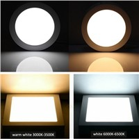 LED Panel Light 6W 12W 18W Surface Mounted LED Ceiling Lights AC90-265V Round Square LED Downlight