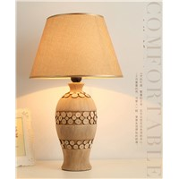 Table Lamp Ceramic Bedroom Bedside Table New Chinese Style Simple Modern Living Room Pastoral Country Fabric Study CL