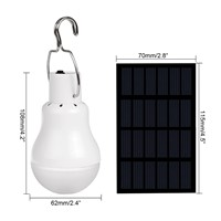 Solar panel LED bulb LED Solar Lamp Solar Power LED Light Outdoor Solar Lamp Spotlight Garden Light