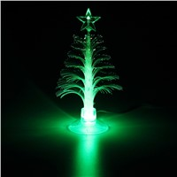iTimo Fashion Christmas Tree USB Table Lamps Night Light Room Decoration Indoor Lighting Holiday Lighting 7 Color Fiber Tree