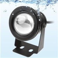 10W White LED Underwater Light DC 12V Luminous Flux: 800-900lm Waterproof Fountain Pool Lamp Black Cover Body Outdoor