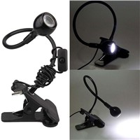 USB LED Portable Reading Table Lamp Clip Clamp Flexible Black For PC Laptop Lampada Led Lanterna