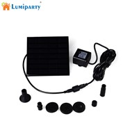 LumiParty Solar Powered Fountain Pump, 7V Energy-Saving Submersible Solar Water Pumps For Garden Pond