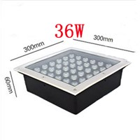 LED high power buried lights square waterproof LED buried lights 3w9w12w16w18w24w LED floor lamp AC85-260V LED Underground Light