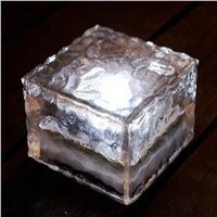 IP55 ice glass Solar Ice Brick Light  Ice Glass Brick Led Light led solar light garden solar lamp