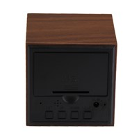Wood LED Lamp Alarm Clock With Thermometer Temp  2 x AAA/ USB charge Digital Table Clocks For Gifts