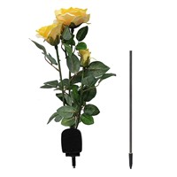 1PCS Solar Power Rose Flower 3 LEDs Garden Yard Stake Path Patio Landscape Lamp Light