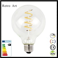Dimmable vintage edison style soft led filament light bulb G95 4W