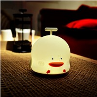 Little Duck Rechargeable LED Night Light with Sounding Silicone USB Touch Sensor Night Lamp Cartoon Children Bedroom Light Decor