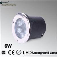 6W LED underground light ,120mm 85-265Vac input IP67 stainless steel led built in lamp ,outdoor waterproof inground spot light
