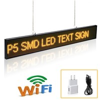 20inch P5 SMD Led Signs Module Scrolling Message LED Display Board With Metal Chain Countdown Time Indoor Advertising Signature