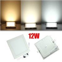 new 10PCS 9W+10 PCS 12W Square LED Panel Lights Bulb SMD2835 Cold white/warm white LED Ceiling LED Downlights AC85~265V