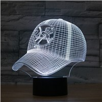 New York Yankees Baseball Team Cap 3D Light Hat Nightlight Led Desk Table Lamp for Kids Sleeping Light Light Up Toy