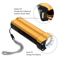 ITimo High Power Portable Lantern Torch Power Bank Car Cigarette Lighter Multi-use by 18650 Battery LED Flashlight 3 Modes