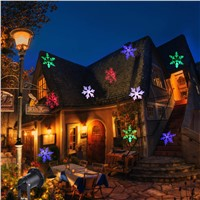 LED Snowflake Light Outdoor LED Garden Light Waterproof Outdoor Christmas Lights LED Snowflake Projector