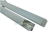100 X 1M Sets/Lot 90 degree corner aluminium profile for led strips and led extrusion for closet or kitchen led lights