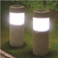 Solar Powered Stone Pillar LED Garden Night Light Garden Lawn YardLamp Lamp  Column  lawn lamp solar lamp for garden decoration