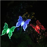 Solar Energy LED Light Colorful Butterfly Bird Courtyard Light Outdoor